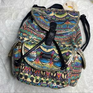 Sakroots Artist Circle Boho Flap Backpack The Sak
